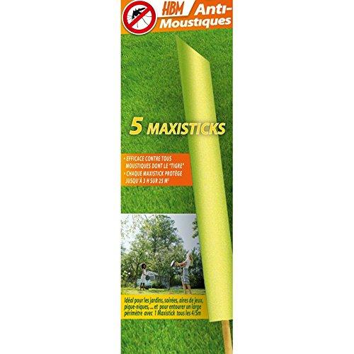 HBM Anti-Moustiques 001-RE-BAT001 5 Maxisticks Anti-Moustique