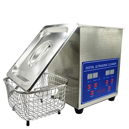 Ultrasonic Cleaner 2L, Jewelry Cleaner Machine for Diamond, Gold, Silver, Rings, Best Sonic Cleaners with Digital Timer and Temperature