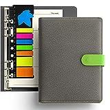 KKDragon Cuadernos Bonitos A5 Tapa Dura + Notas Adhesivas +