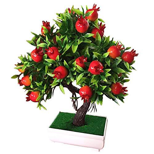 YSoutstripdu 1 Unid Potted Tree Artificial Fruit, Decoraciones del Banquete De Boda del Jardín De La Etapa De Los Bonsai De La Planta