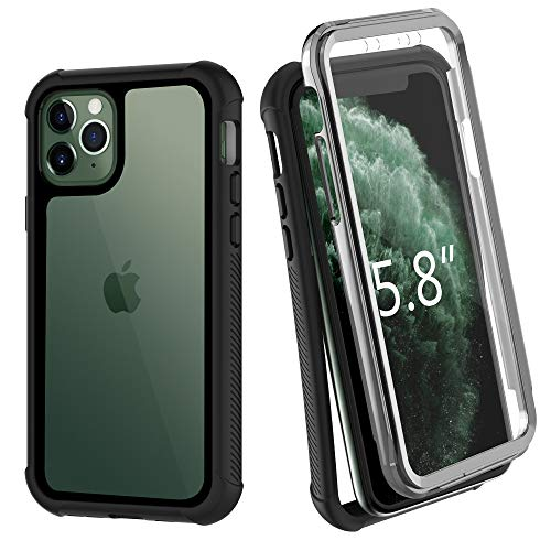 OTBBA iPhone 11 Pro Case, Built-in Screen Protector Heavy Duty Shockproof Scratch Resistant Phone 11 Pro Cases 5.8inch 2019
