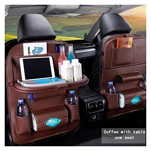 Bolso de almacenamiento del organizador del asiento trasero del coche con la bandeja plegable de la mesa de la tableta del tenedor de la tableta de la caja del tejido del asiento trasero del asiento d