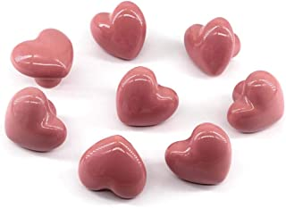 Flomore Rose Poignées et Boutons de tiroir ceramique poignée de Meuble Porte Bouton pour la Chambre des Enfants Pack de 8 ...