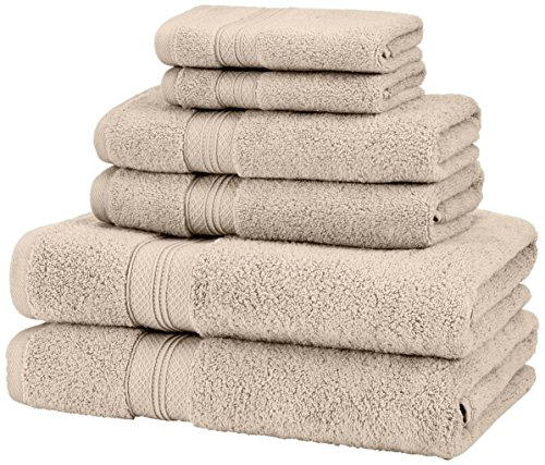 Pinzon 6 Piece Pima Cotton Bath Towel Set - Khaki