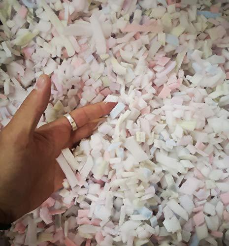Schaumstoff Flocken Polyurethan (50L - 1000L) Füllmaterial Bastelmaterial Kissenfüllung Füllung für Kissen, Sitzsäcke und Stofftiere... 50 Liter
