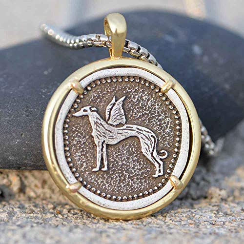VAWAA Collar de Galgo para Hombre Dropship Galgo Rescue Cobre Metal Whippet Dog Jewelry Gold Filled Grey Hound Chain Jewelry