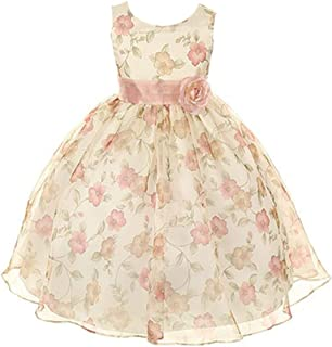 Kids Dream Girls Organza Floral Special Occasion Dress