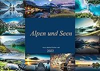 Alpen und Seen (Wandkalender 2022 DIN A2 quer): Landschaftsfotografie mit hoechsten Anspruechen (Monatskalender, 14 Seiten )