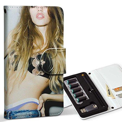 スマコレ ploom TECH プルームテック 専用 レザーケース 手帳型 タバコ ケース カバー 合皮 ケース カバー 収納 プルームケース デザイン 革 おしゃれ 女性 セクシー 011538