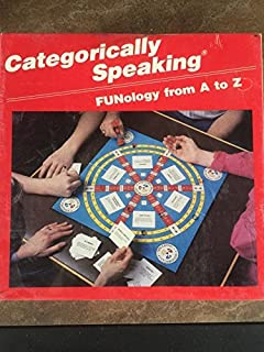 Categorically Speaking FUNology from A-Z Board Game by Bevco Games