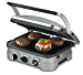 Cuisinart GR-4N 5-in-1 Griddler, Silver, Black Dials (Renewed)