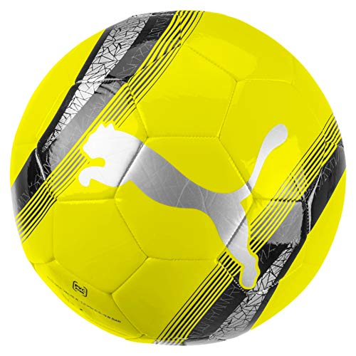 Puma Big Cat 3 Ball Balón, Adultos Unisex, Yellow Alert Black-Silver (Amarillo), 5