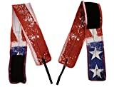 RockTape Wrist Wraps for Weight-Lifting & Exercise, Competition Grade, Designed by Jason Khalipha, Red/White/Blue