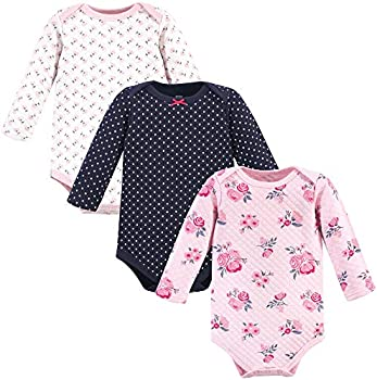 Hudson Baby Unisex Baby Quilted Long Sleeve Cotton Bodysuits