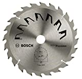 Bosch 2609256857 Précision Lame de scie circulaire 24 dents carbure Diamètre 170 mm alésage/alésage avec bague de réduction 20/16 Largeur de coupe 2,5 mm