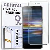 REY Protector de Pantalla para Sony Xperia L3, Cristal Vidrio Templado Premium