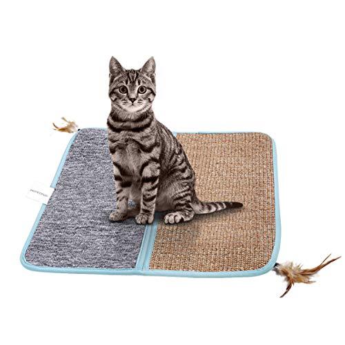 POPETPOP Katzenkratzmatte - Sisal Katzen-Kratzmatte Katzenteppich für Katzenkrallen-Pflegespielzeug und zum Schutz von Möbeln