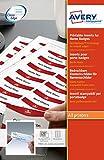 Avery 180 Inserti per porta badge stampabili 30x65mm, stampanti laser e inkjet, codice prodotto 6530