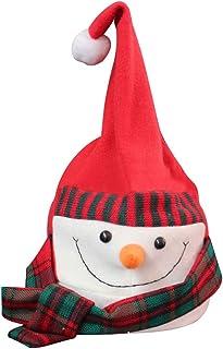Wechoide Gorro de Papá Noel eléctrico, diseño de Dibujos Animados, Color Rojo