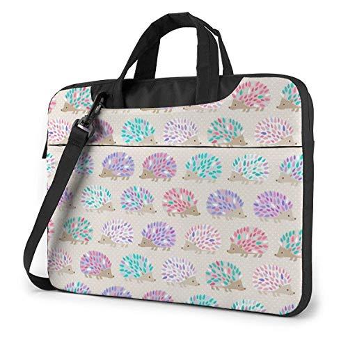 15.6 inch Laptop Shoulder Briefcase Messenger Hedgehog Polkadot Oven Mitts Tablet Bussiness Carrying Handbag Case Sleeve