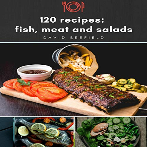 120 Recipes: Fish, Meat and Salads audiobook cover art