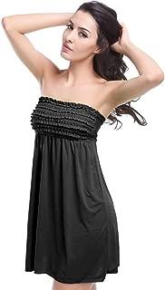 Women Bathing Suit Cover Up Strapless Beach Dress Tankini Tops Swimwear