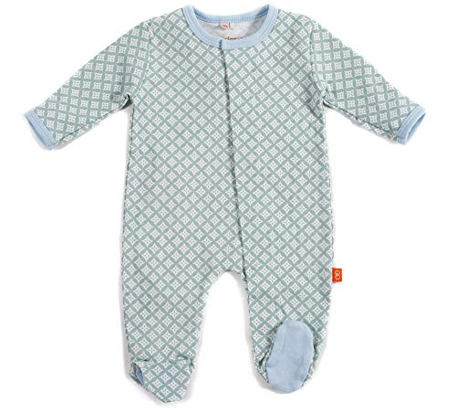 Magnificent Baby Baby Boys' Footies, Blue Diamond, 0-3M (8-12 lb)