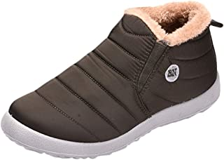 Mosunx Men High Top Boots, Fashion Boy's Plus Velvet Warm Outdoor Sports Shoes Waterproof Snow Cotton Boots Winter Warm Snow Boots