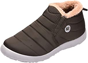 Men's Plus Velvet Warm Outdoor Sports Shoes Waterproof Snow Cotton Boots Casual Boots Simple Design Winter Work Slip-Ons