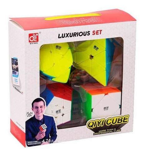 Kit Box Cubo Mágico Qiyi Pyraminx Megaminx Skewb Master