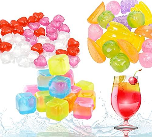 36x cubitos de hielo reutilizables y coloridos - hechos de plástico para molde de cubitos de hielo sin BPA - plástico para enfriar bebidas y bebidas