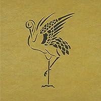 ステンシルシート 鶴 つる 3サイズ型紙  (10cm)