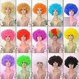 ボンバー アフロ ウィッグ ネット 収納バッグ セット /パーティー コスプレ 仮装 衣装 ハロウィン コスチューム (ベネディモール) Bene di mall (フルセット 緑)