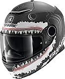 Shark Spartan 1.2 Lorenzo Wht Mat KWA - Casco de Moto (Talla XL), Color Negro y Blanco