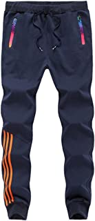 MMANLUODANNI Mens Jogger Pants Trousers Casual Workout Slim Fit Running Tracksuit Bottoms Sweatpants with Zip Pockets