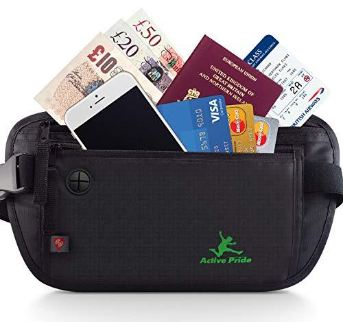 Cintura per Denaro Da Viaggio o Corsa -Marsupio blocco-RFID per Uomini e Donne