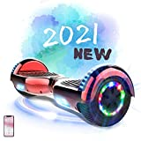 MARKBOARD Hoverboard Gyropode Balance Board, Scooter électrique d'auto-équilibre avec Roues Flash LED E-Scooter Auto-équilibrage Électrique Skateboard