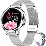 ieverda Smartwatch Orologio Fitness Uomo Donna Impermeabile IP68 Smart Watch Cardiofrequenzimetro da Polso Contapassi Smartband Activity Tracker Bambini Cronometro per Android iOS Smartwatch Donna