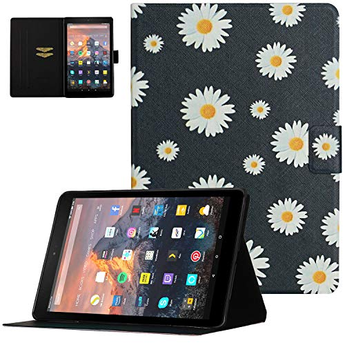 Fire HD 8 Case (2016/2017/2018 Release - 6th/7th/8th Generation), UGOcase Premium PU Leather Kickstand Smart Case with Auto Sleep/Wake Multi-Angle Viewing for Kindle Fire HD 8 Tablet, Daisy