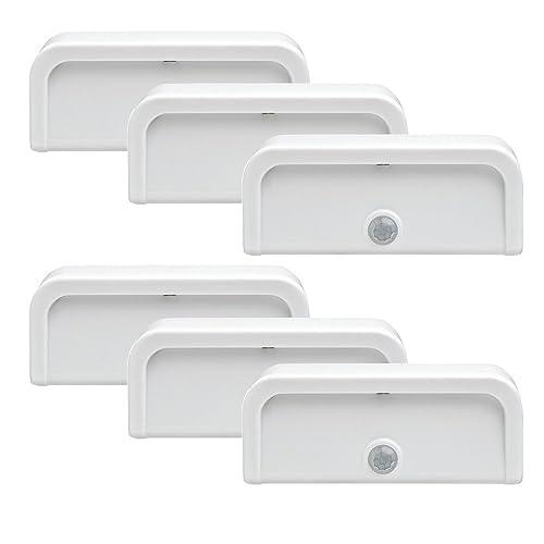 stair lighting amazon com mr beams mb706 wireless motion sensing mini stick anywhere led nightlights small