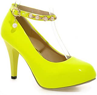 BalaMasa Womens APL12253 Pu Heeled Sandals