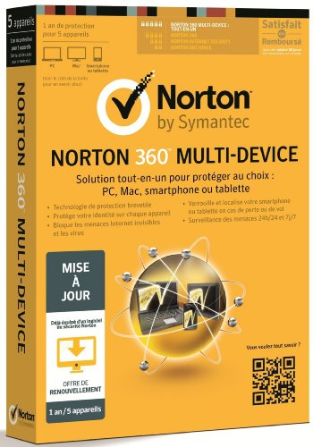 Norton 360 multi-device - mise à jour (5 postes, 1 an)