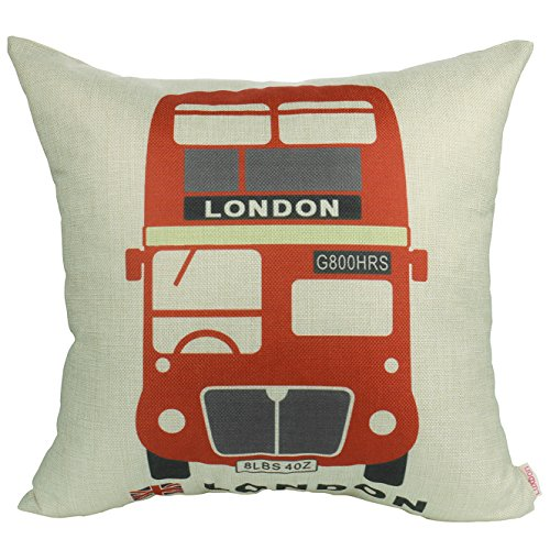 Luxbon Red Routemaster Cushion Covers 18x18 UK London...