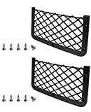 JAVOedge [2 Pack], Large ABS Plastic Frame with Stretchable Mesh Net, Screws Included for Secure Fit in Auto, RV, Home, Marine