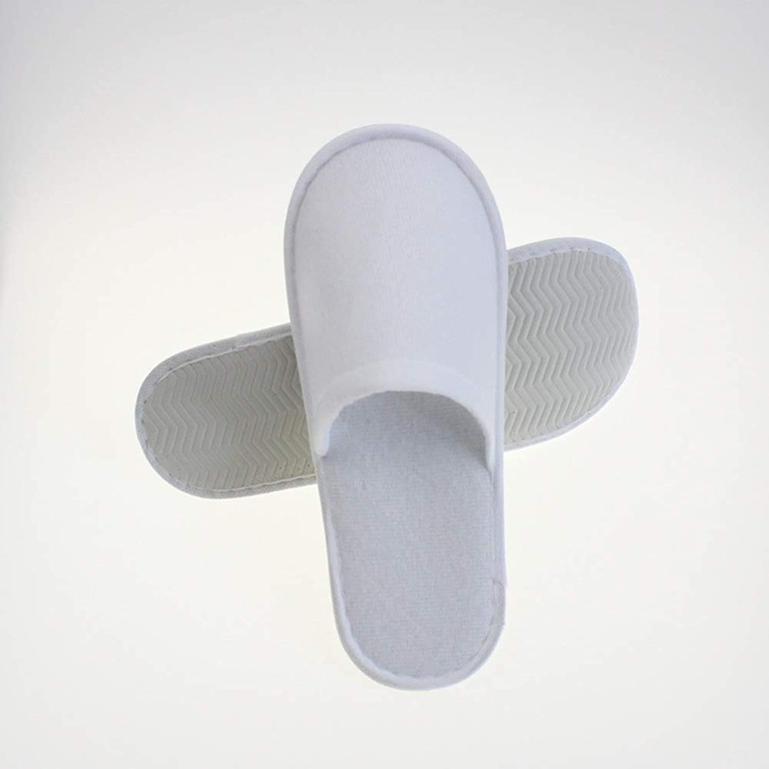 Luxury Thickening Closed Toe Disposable Spa Hotel Slippers Individually for Men and Women 24 50 100 Pac (Edition   24 Pairs)