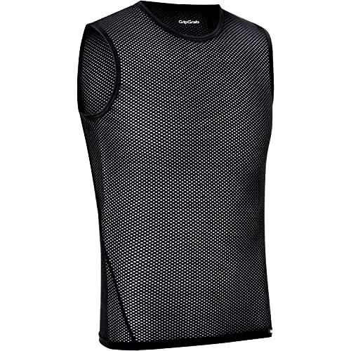 GripGrab Camiseta Interior Ciclismo Pack 1 o 3 uds Sin Mangas de Rejilla Ropa Técnica Ciclista Transpirable Unisex