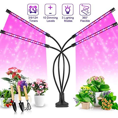 40W LED plantengroeilicht clip slang USB vier hoofdlijst rood blauw full spectrum dimbare tijd