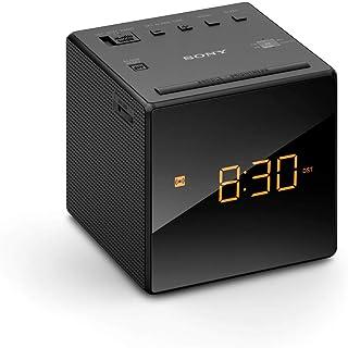 Sony ICF-C1 Desktop Alarm Clock AM FM Radio, Black, ICFC1