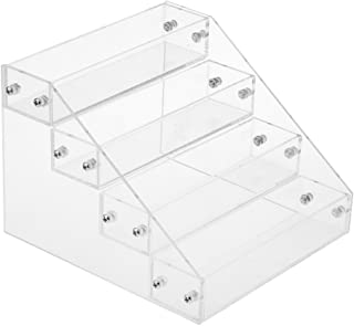 MagiDeal 4 Tiers Acrylic Makeup Nail Polish Display Stand Organizer Clear Holder Rack
