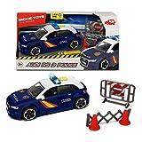 Dickie- Policía Nacional Control Policial Audi RS3 15cm 1153011 Vehículo de Juguete con función, Multicolor